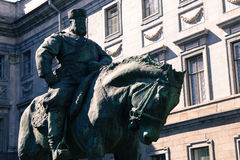 Monument to a man on a horse Stock Image