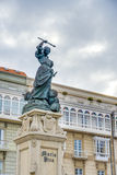 Monument to Maria Pita, A Coruna, Galicia, Spain. Stock Images