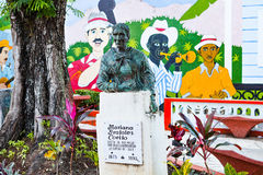 Monument to Mariana Grajales Coello, a Cuban icon of the women`s. Baracoa, Cuba - December 22, 2016: Monument to Mariana Grajales Coello, a Cuban icon of the stock photography