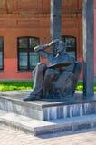 Monument to Mark Chagall on Pokrovskaya street, Vitebsk, Belarus stock photography