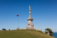 Monument to Marquis of Comillas, Comillas. Cantabria, Spain royalty free stock photography