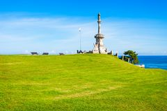 Monument to Marquis de Comillas. Monument to the Marquis de Comillas in Comillas, Cantabria region of Spain stock photography