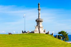 Monument to Marquis de Comillas. Monument to the Marquis de Comillas in Comillas, Cantabria region of Spain royalty free stock images