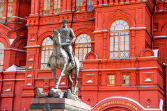 Monument to Marshal Georgy Zhukov at the Manege Square Royalty Free Stock Image