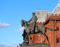 The monument to Marshal Georgy Zhukov Stock Images