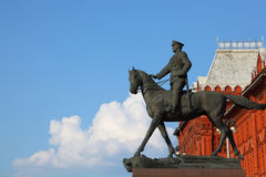 Monument to Marshal of Soviet Union Georgy Zhukov royalty free stock image