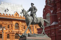 A monument to the marshal of the Soviet Union Georgy Zhukov Stock Photography
