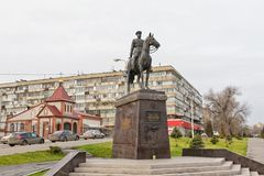 The monument to Marshal of the Soviet Union Konstantin Rokossovs Stock Photos