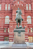 Monument to Marshal Zhukov - the great Soviet military leader , Stock Images