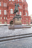 Monument to Marshal Zhukov Stock Photos