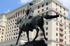 Monument to marshal Zhukov Stock Image