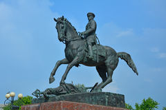Monument to marshal Zhukov on Victory Square in the centre of Kaluga city, Russia Royalty Free Stock Images