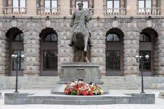 Monument to Marshal Zhukov in Yekaterinburg on the Stock Photo