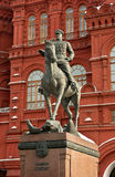 Monument to marshal Zhukovu. Stock Images