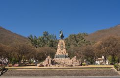 Monument to Martin Miguel de Guemes, a military leader and caudillo in Argentina. North west royalty free stock photography