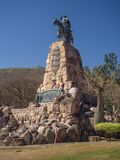 Monument to Martin Miguel de Guemes, a military leader and caudillo in Argentina stock image