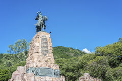 Monument to Martin Miguel de Guemes, Salta. Monument to Martin Miguel de Guemes, a military leader and caudillo who defended Argentina stock images