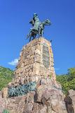 Monument to Martin Miguel de Guemes, Salta. Monument to Martin Miguel de Guemes, a military leader and caudillo who defended Argentina stock photos