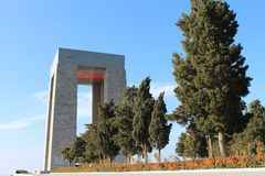 Martyrs Monument. Monument to the martyrs monument in Gallipoli, Çanakkale Stock Photography