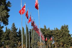 Martyrs Monument. Monument to the martyrs monument in Gallipoli, Çanakkale Royalty Free Stock Photography