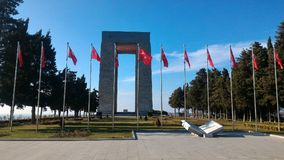 Martyrs Monument. Monument to the martyrs monument in Gallipoli, Çanakkale stock image