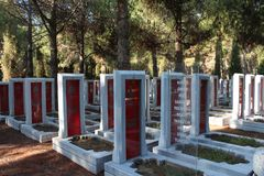 Martyrs Monument. Monument to the martyrs monument in Gallipoli, Çanakkale royalty free stock photos