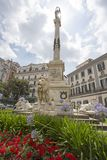 Monument to the martyrs, Piazza dei Martiri, Naples, Italy Royalty Free Stock Photo