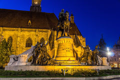 Monument to Mathias Rex in Cluj-Napoca Stock Images
