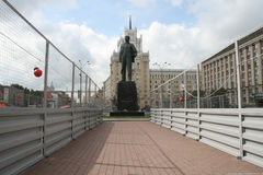 The monument to Mayakovsky on the triumphal square in Moscow, under construction Royalty Free Stock Photography