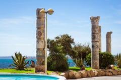 Monument to Mediterranean Cultures on Punta Margalla, Av de los Stock Image