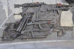 The monument to Mikhail Kalashnikov stock images