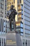 The monument to Mikhail Kalashnikov royalty free stock image