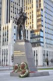 The monument to Mikhail Kalashnikov Stock Images