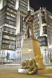The monument to Mikhail Kalashnikov royalty free stock photography