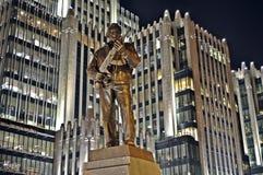 The monument to Mikhail Kalashnikov stock image