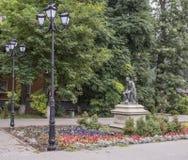 Monument to Mikhail Lomonosov. Sculptor Joseph Kozlowski. Rostov-on-Don, Russia -August 14,2016: Monument to Mikhail Lomonosov. Sculptor Joseph Kozlowski Stock Images