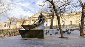 A monument to Mikhail Sholokhov, Russian Soviet writer, scriptwriter. The Nobel Prize for Literature.  stock images