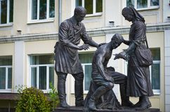 Monument to the Military Doctors and Nurses. Stock Image