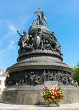 Monument to the Millennium of Russia in Novgorod the Great Royalty Free Stock Photo