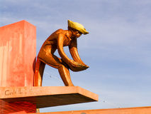 Monument to the miner Stock Photography