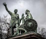 The Monument to Minin and Pozharskij royalty free stock image