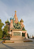 Monument to Minin and Pozharsky. And St. Basil\'s Cathedral Royalty Free Stock Images