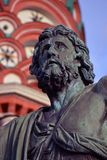 Monument to Minin and Pozharsky, fragment. Monument to Minin and Pozharsky on the Red Square in Moscow, fragment stock photography