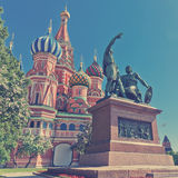 The monument to Minin and Pozharsky Royalty Free Stock Images