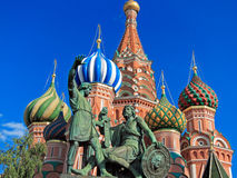 Monument to Minin and Pozharsky Royalty Free Stock Photo
