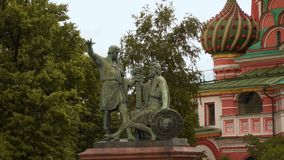 Monument to Minin and Pozharsky. In Moscow Stock Photos