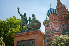 Monument to Minin and Pozharsky in Moscow Stock Image