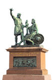 Monument to Minin and Pozharsky in Moscow isolated Stock Photo