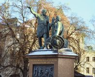 Monument to Minin and Pozharsky Stock Photography
