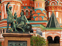 Monument to Minin and Pozharsky, Moscow, Russia Royalty Free Stock Image